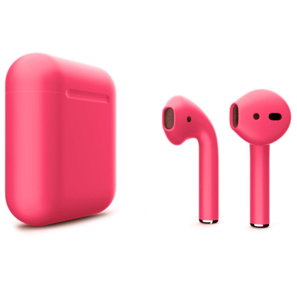 Беспроводные наушники Apple AirPods 2 Color (без беспроводной зарядки чехла) Crimson Matte