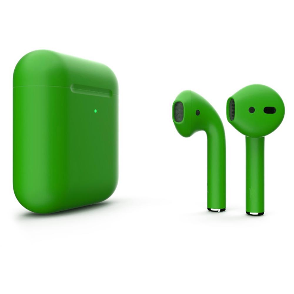 Беспроводные наушники Apple AirPods 2 Color (беспроводная зарядка чехла) Green Matte