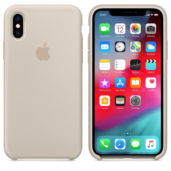 Силиконовый чехол на iPhone Xr ( Бежевый)