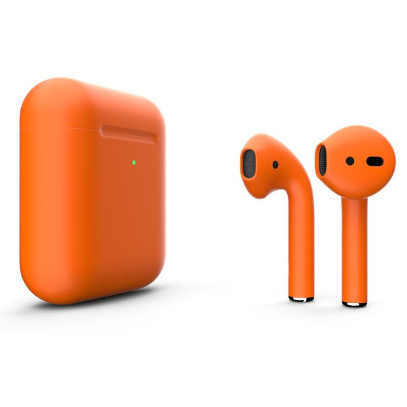 Беспроводные наушники Apple AirPods 2 Color (беспроводная зарядка чехла) Orange Matte