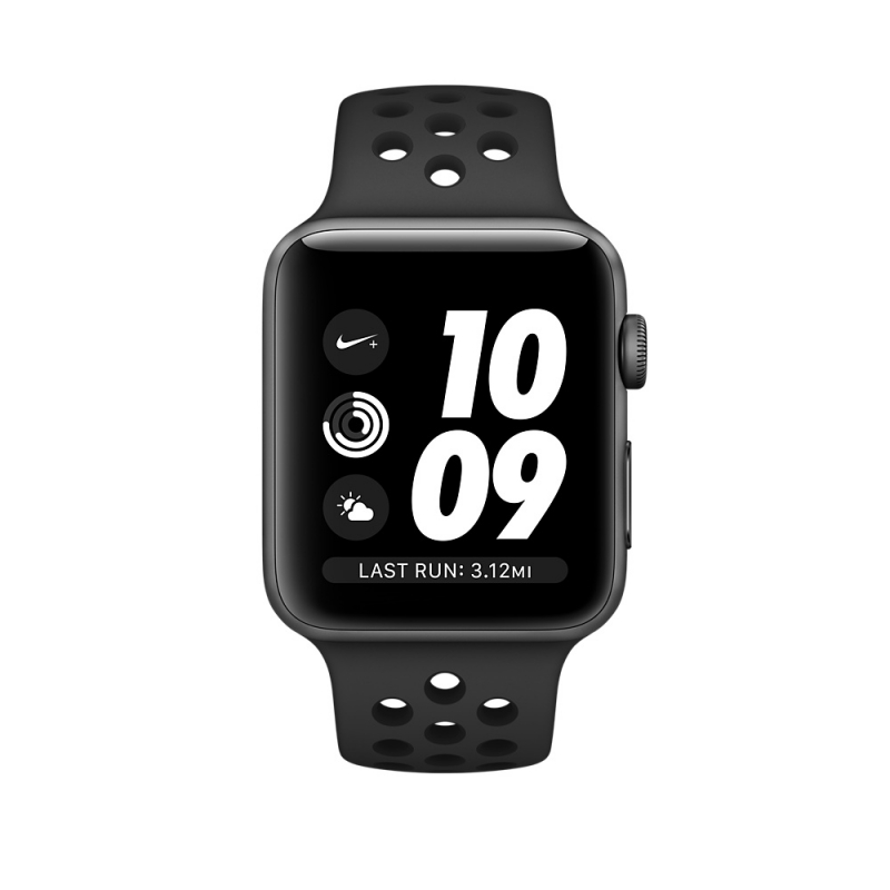 Apple Watch Series 3 Nike+ 38mm Space Gray Aluminum Case with Anthracite/Black Nike Sport Band