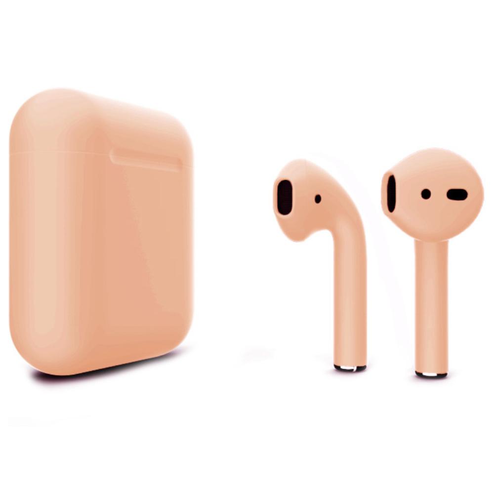 Беспроводные наушники Apple AirPods 2 Color (без беспроводной зарядки чехла) Peachy Matte
