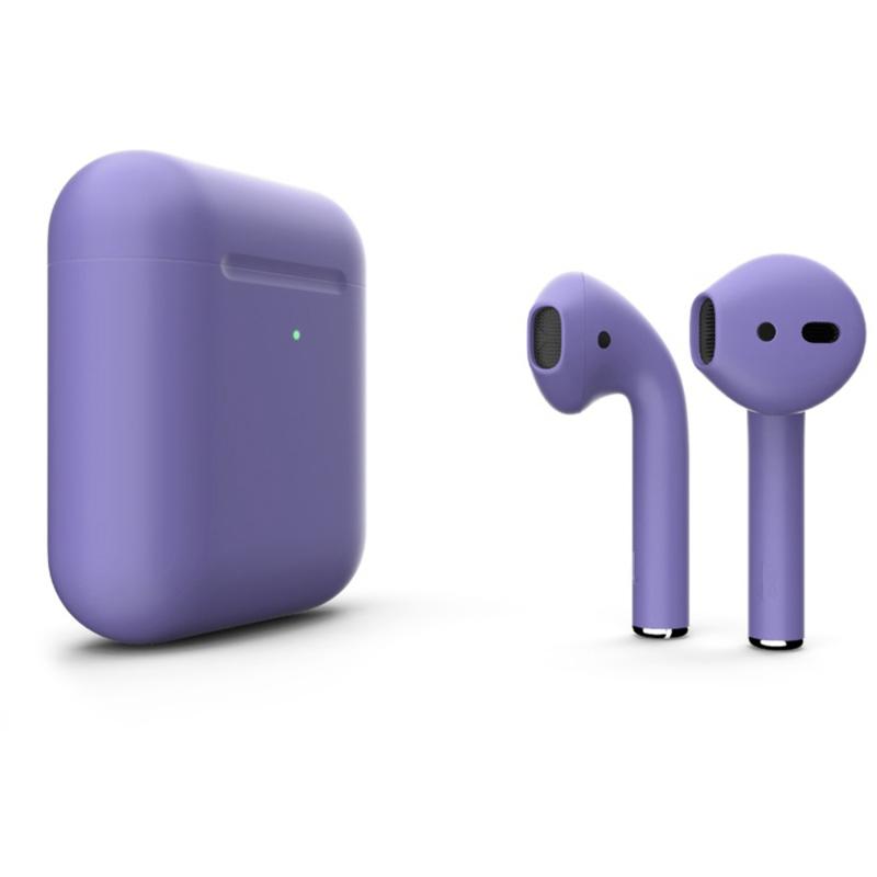 Беспроводные наушники Apple AirPods 2 Color (беспроводная зарядка чехла) Light Purple Matte
