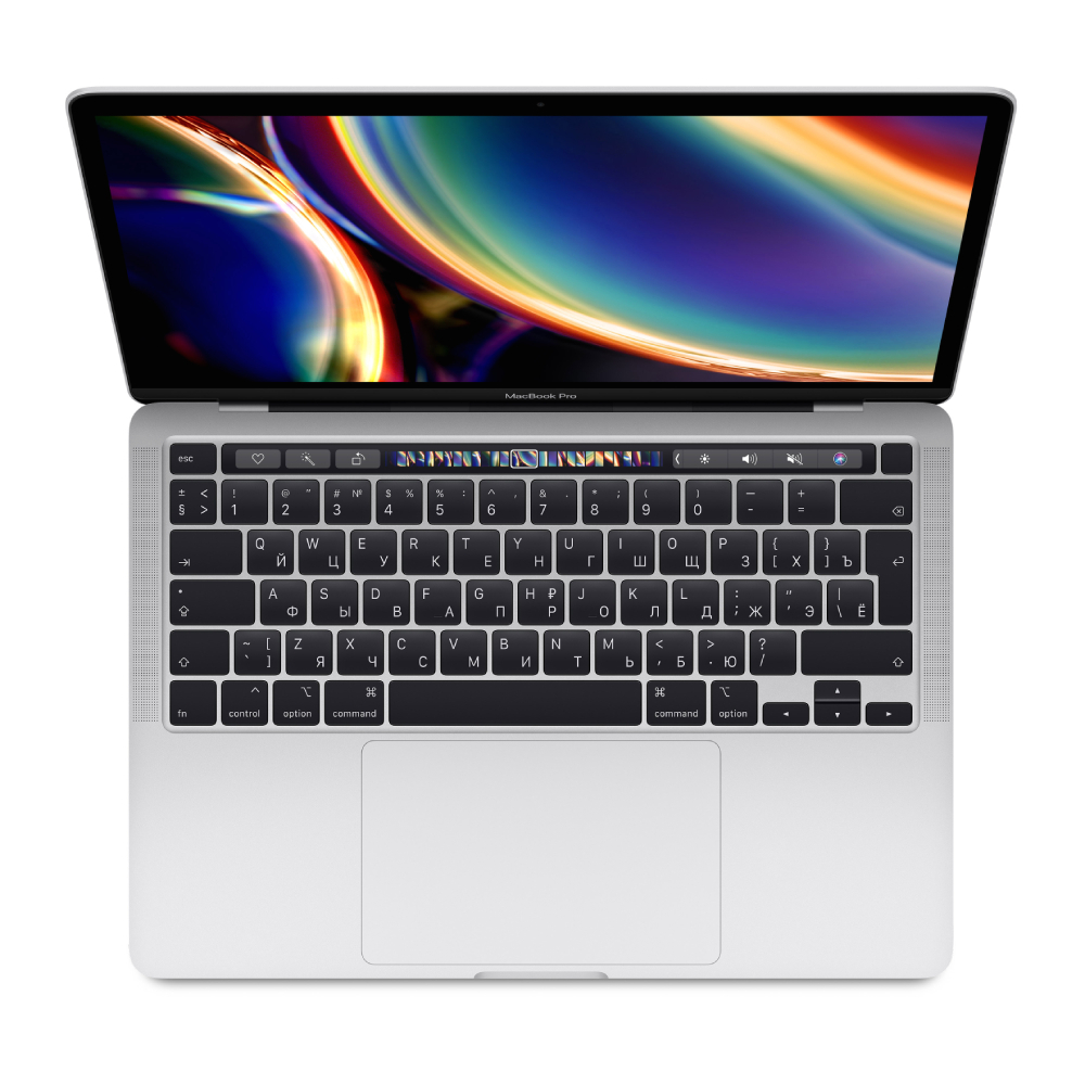 "Ноутбук Apple MacBook Pro 13"" (2020) Quad-Core i5 2 ГГц, 16 ГБ, 512 ГБ SSD, Iris Plus, Touch Bar Silver MWP72"
