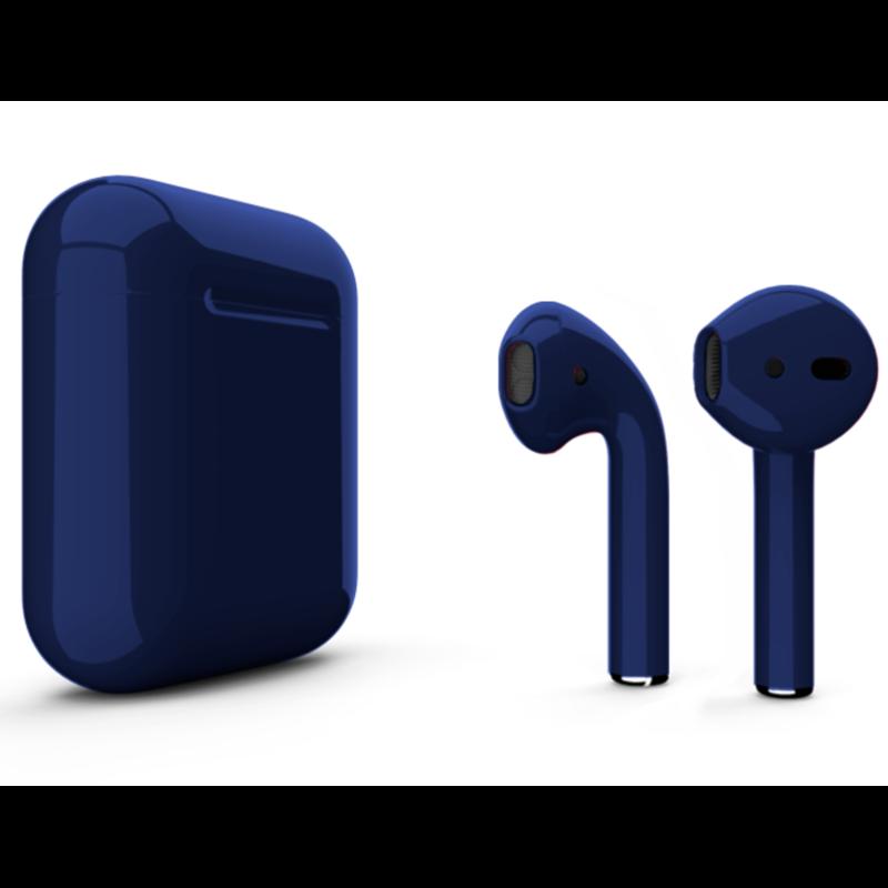 Беспроводные наушники Apple AirPods 2 Color (без беспроводной зарядки чехла) Dark Blue Glossy