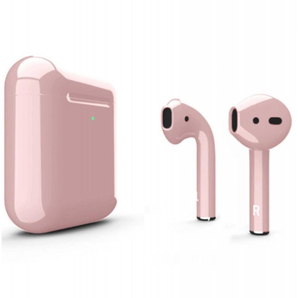 Беспроводные наушники Apple AirPods 2 Color (беспроводная зарядка чехла) Rose Glossy