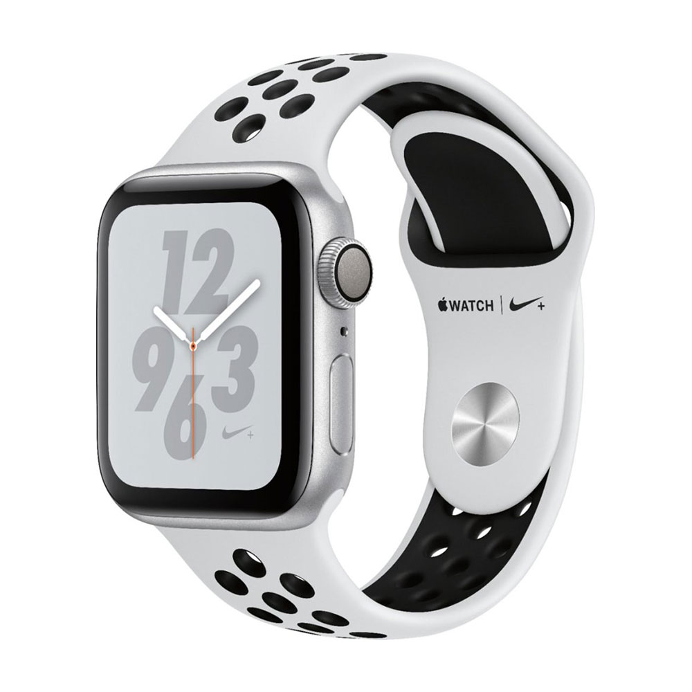 Apple Watch Series 4 GPS 40mm Aluminum Case with Nike Sport Band Silver/Pure Platinum/Black
