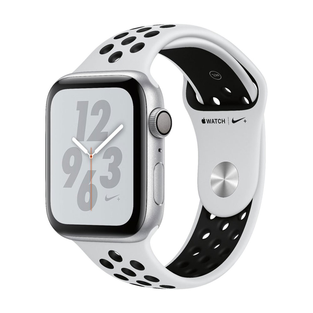 Apple Watch Series 4 GPS 44mm Aluminum Case with Nike Sport Band Silver/Pure Platinum/Black