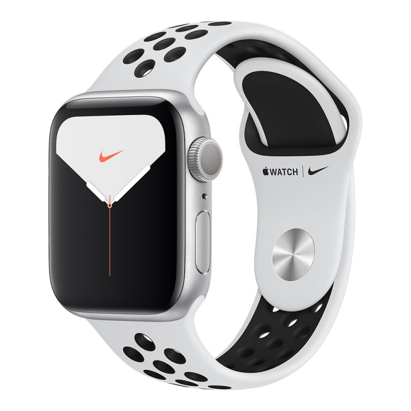Apple Watch Series 5 GPS 40mm Aluminum Case with Nike Sport Band Silver/Pure Platinum/Black