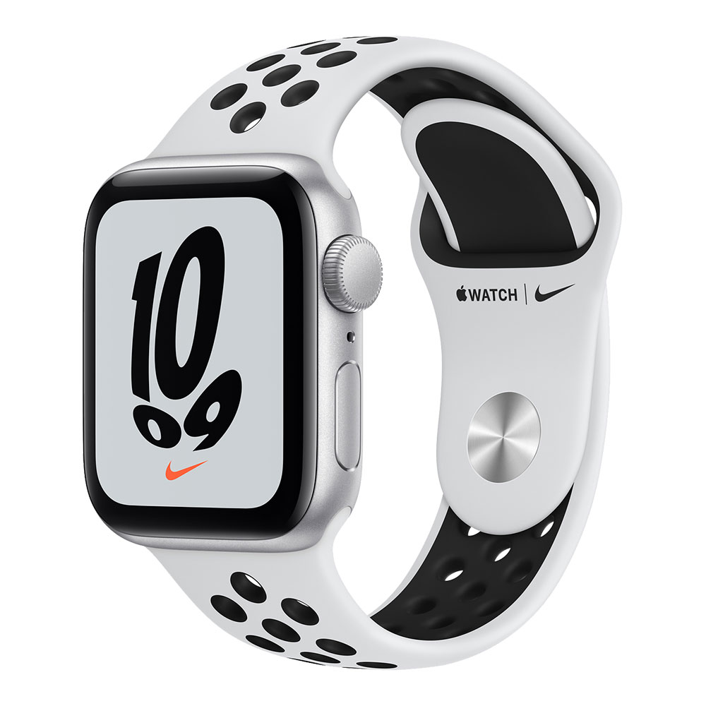 Apple Watch Nike SE GPS 40mm Silver Aluminum Case with Pure Platinum/Black Nike Sport Band
