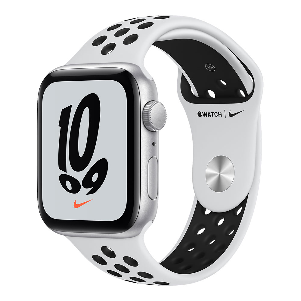 Apple Watch Nike SE GPS 44mm Silver Aluminum Case with Pure Platinum/Black Nike Sport Band