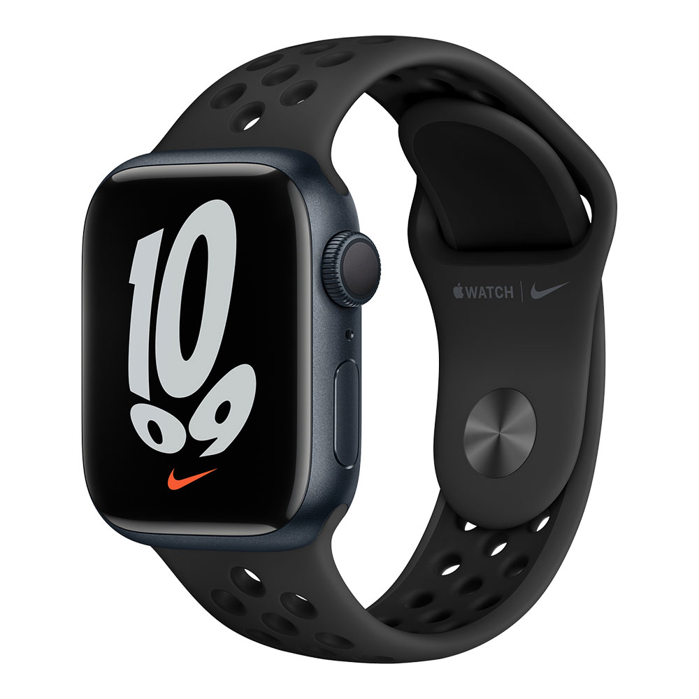 Apple Watch Nike Series 7 GPS 41mm Midnight Aluminum Case with Anthracite/Black Nike Sport Band