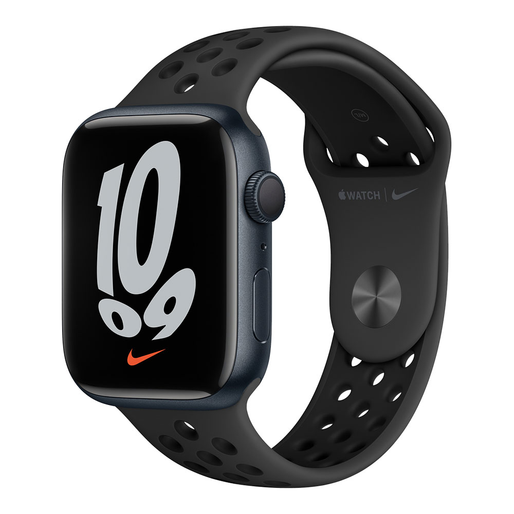 Apple Watch Nike Series 7 GPS 45mm Midnight Aluminum Case with Anthracite/Black Nike Sport Band