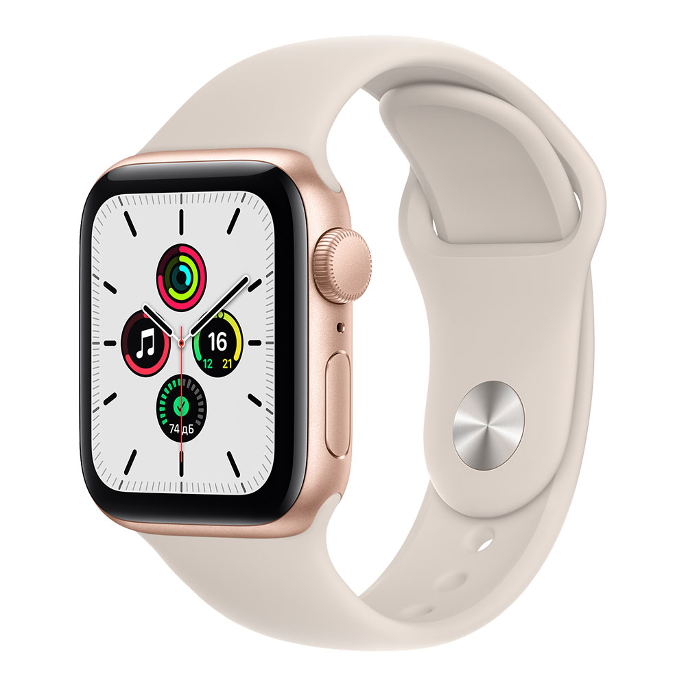 Apple Watch SE GPS 40mm Gold Aluminum Case with Starlight Sport Band