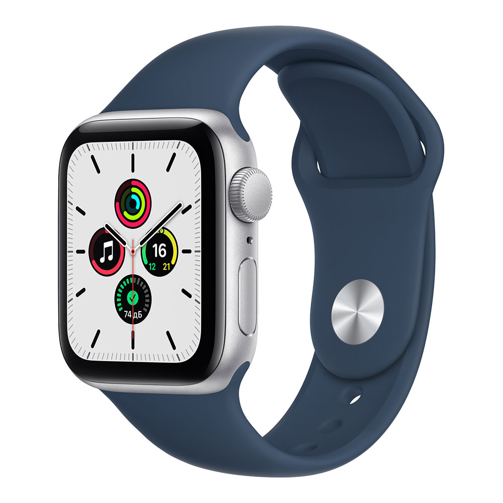 Apple Watch SE GPS 40mm Silver Aluminum Case with Abyss Blue Sport Band