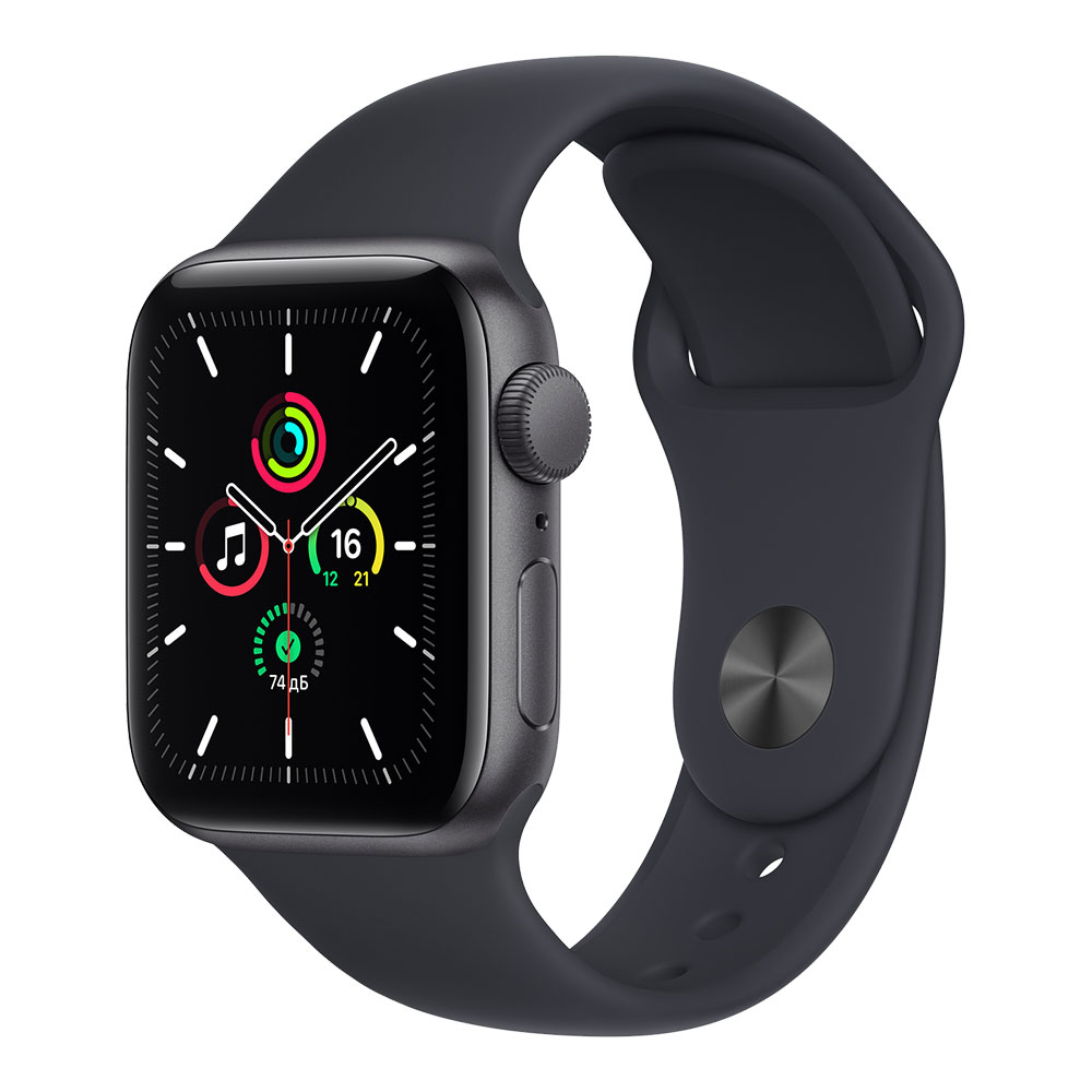Apple Watch SE GPS 40mm Space Gray Aluminum Case with Midnight Sport Band