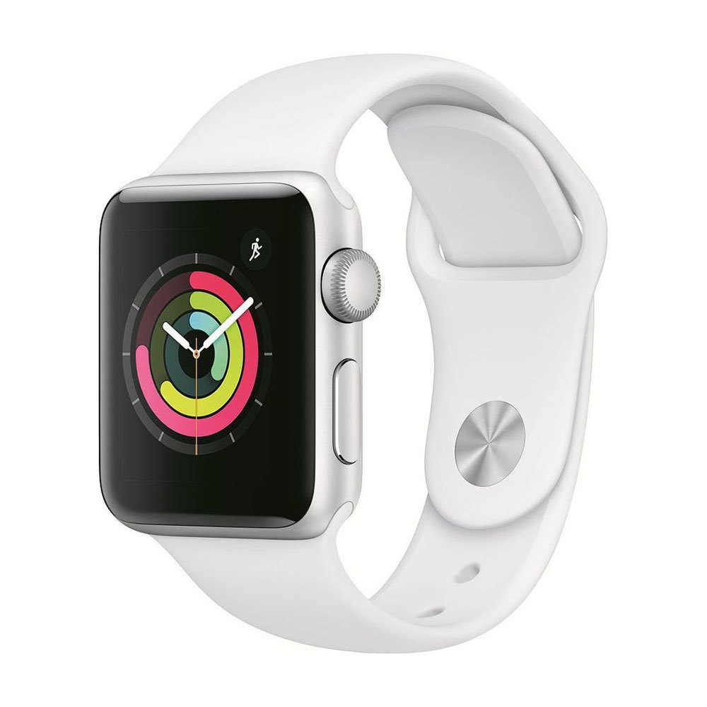 Apple Watch Series 3 38mm Silver Aluminum Case with White Sport Band