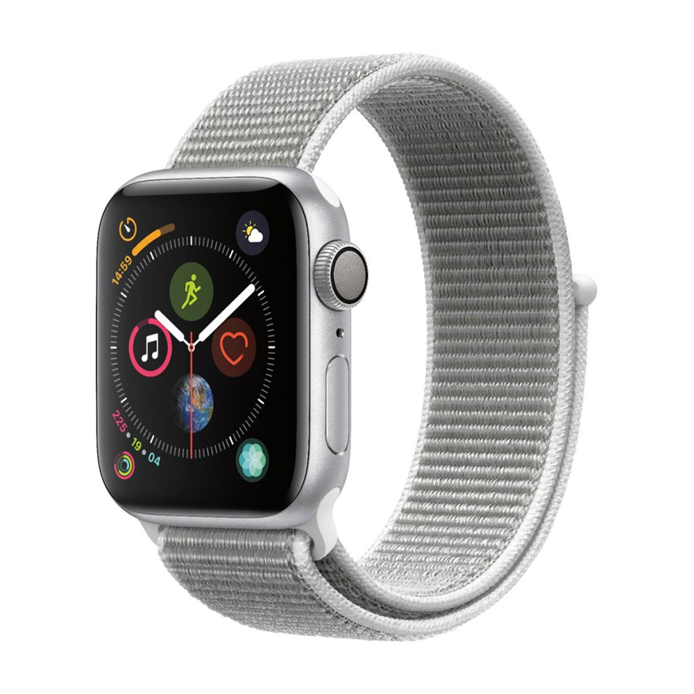 Apple Watch Series 4 GPS 40 mm Silver Aluminum Case with Seashell Sport LOOP