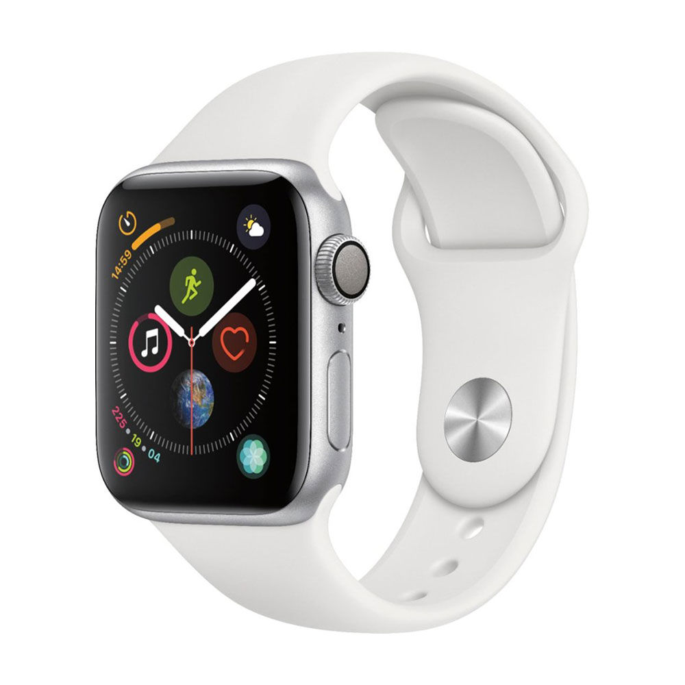 Apple Watch Series 4 GPS 40 mm Silver Aluminum Case with White Sport Band