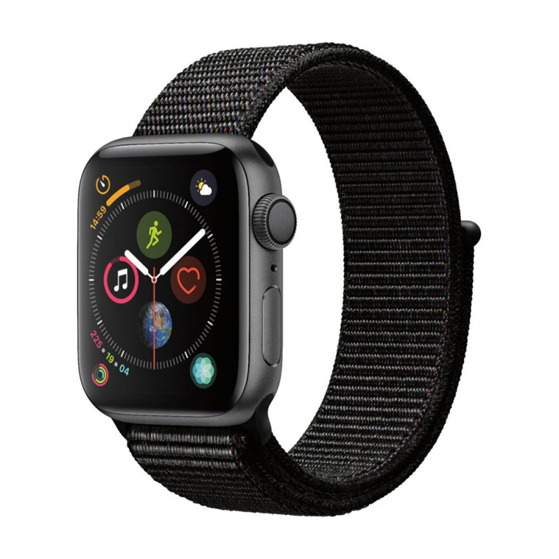 Apple Watch Series 4 GPS 40 mm Space Gray Aluminum Case with Black Sport LOOP