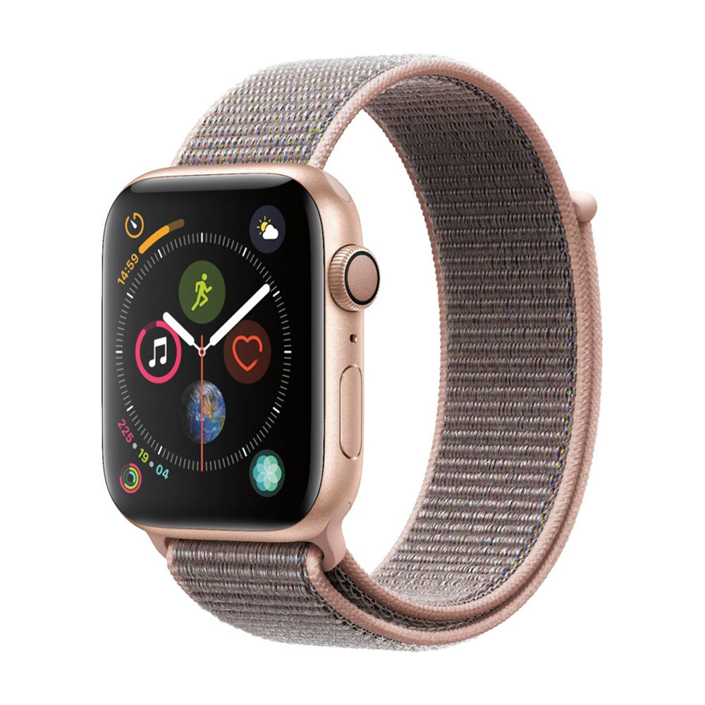 Apple Watch Series 4 GPS 44 mm Gold Aluminum Case with Pink Sand Sport LOOP