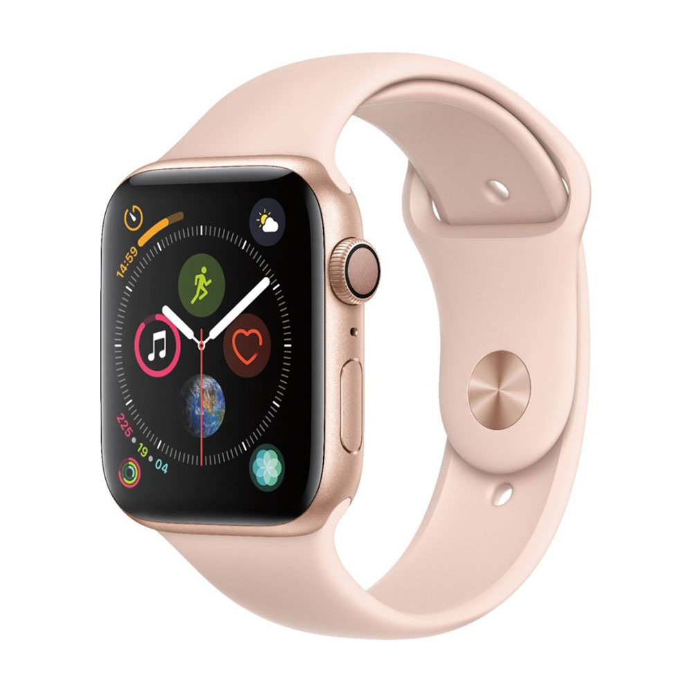 Apple Watch Series 4 GPS 44 mm Gold Aluminum Case with Pink Sand Sport Band