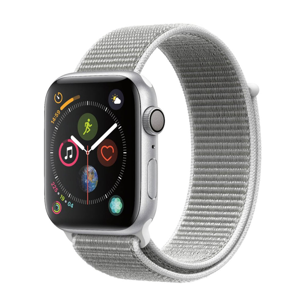 Apple Watch Series 4 GPS 44 mm Silver Aluminum Case with Seashell Sport LOOP