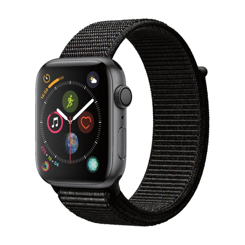 Apple Watch Series 4 GPS 44 mm Space Gray Aluminum Case with Black Sport LOOP