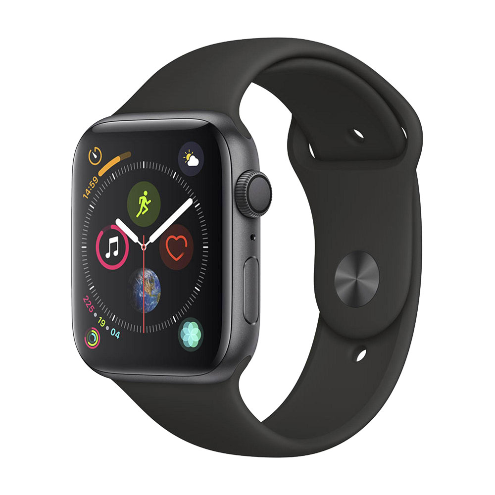 Apple Watch Series 4 GPS 44 mm Space Gray Aluminum Case with Black Sport Band