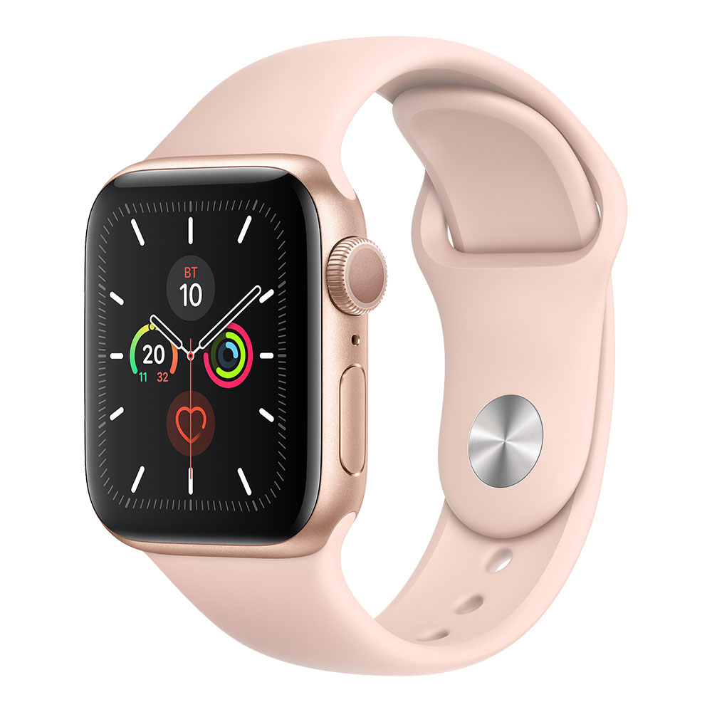 Apple Watch Series 5 GPS 40 mm Gold Aluminum Case with Pink Sand Sport Band