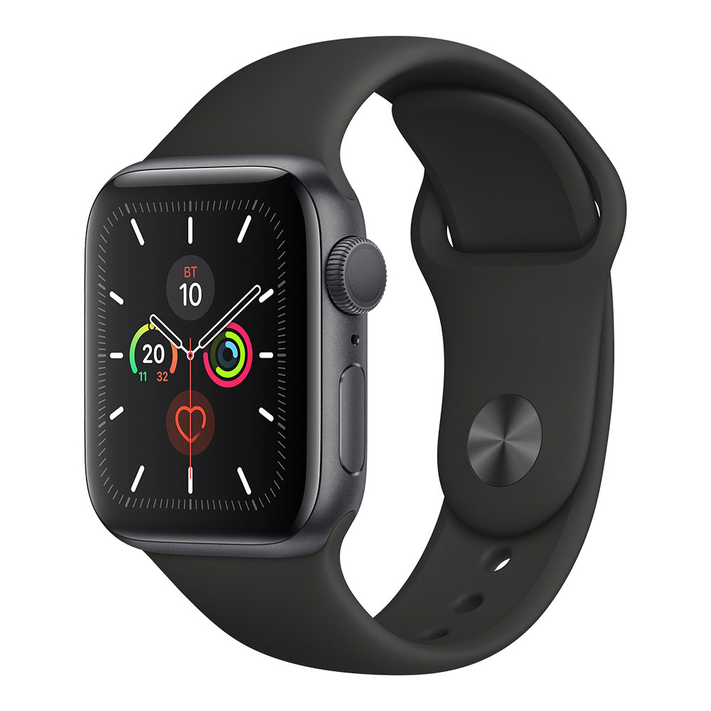 Apple Watch Series 5 GPS 40 mm Space Gray Aluminum Case with Black Sport Band