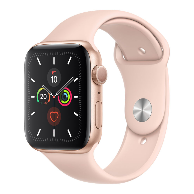 Apple Watch Series 5 GPS 44 mm Gold Aluminum Case with Pink Sand Sport Band