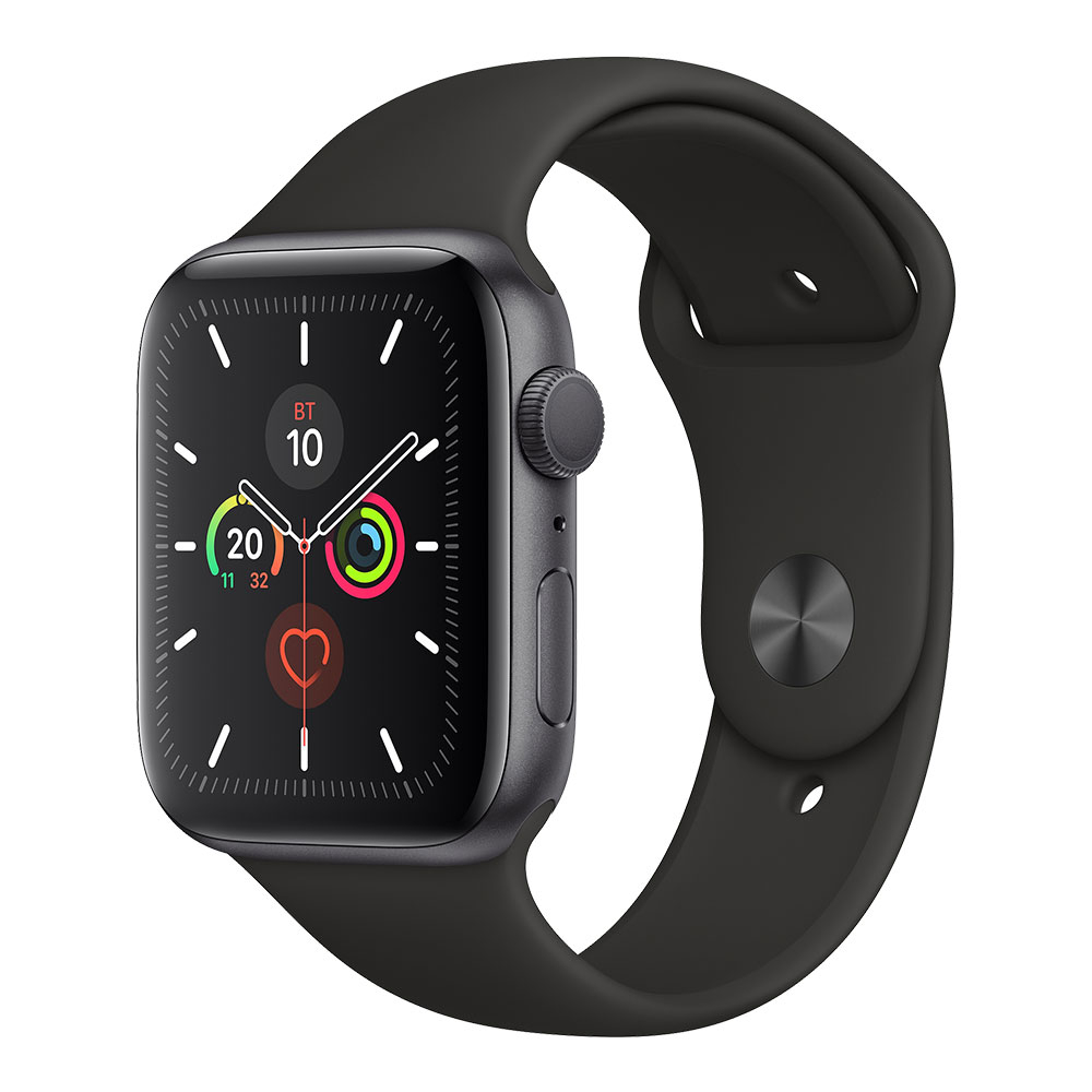 Apple Watch Series 5 GPS 44 mm Space Gray Aluminum Case with Black Sport Band