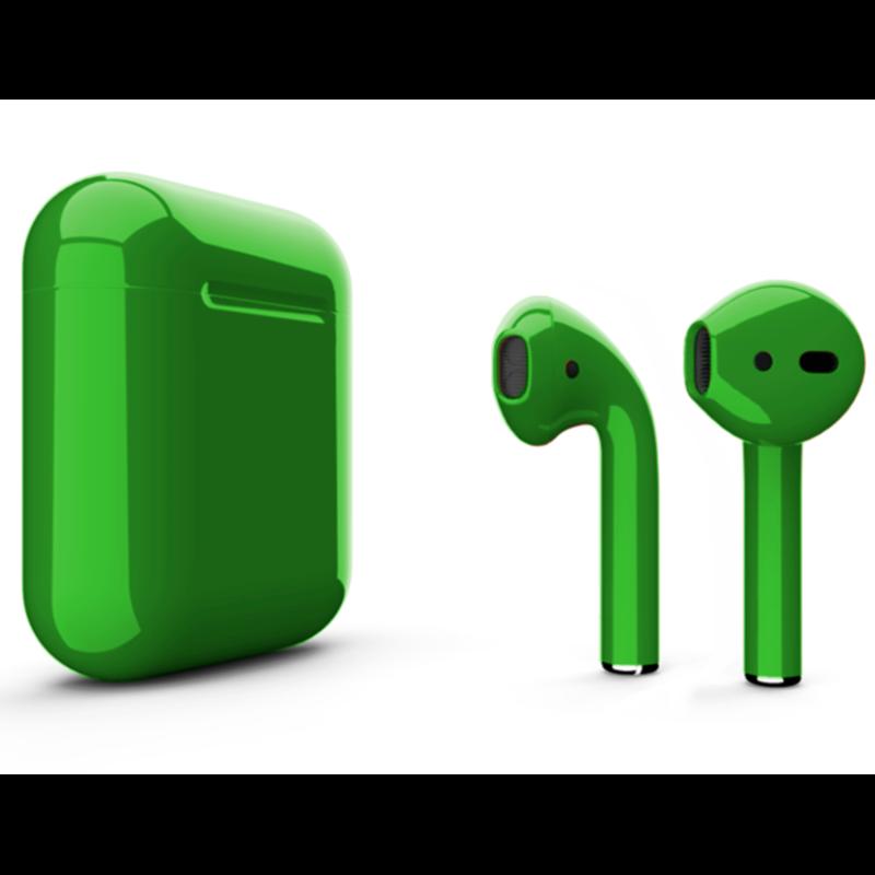 Беспроводные наушники Apple AirPods 2 Color (без беспроводной зарядки чехла) Green Glossy