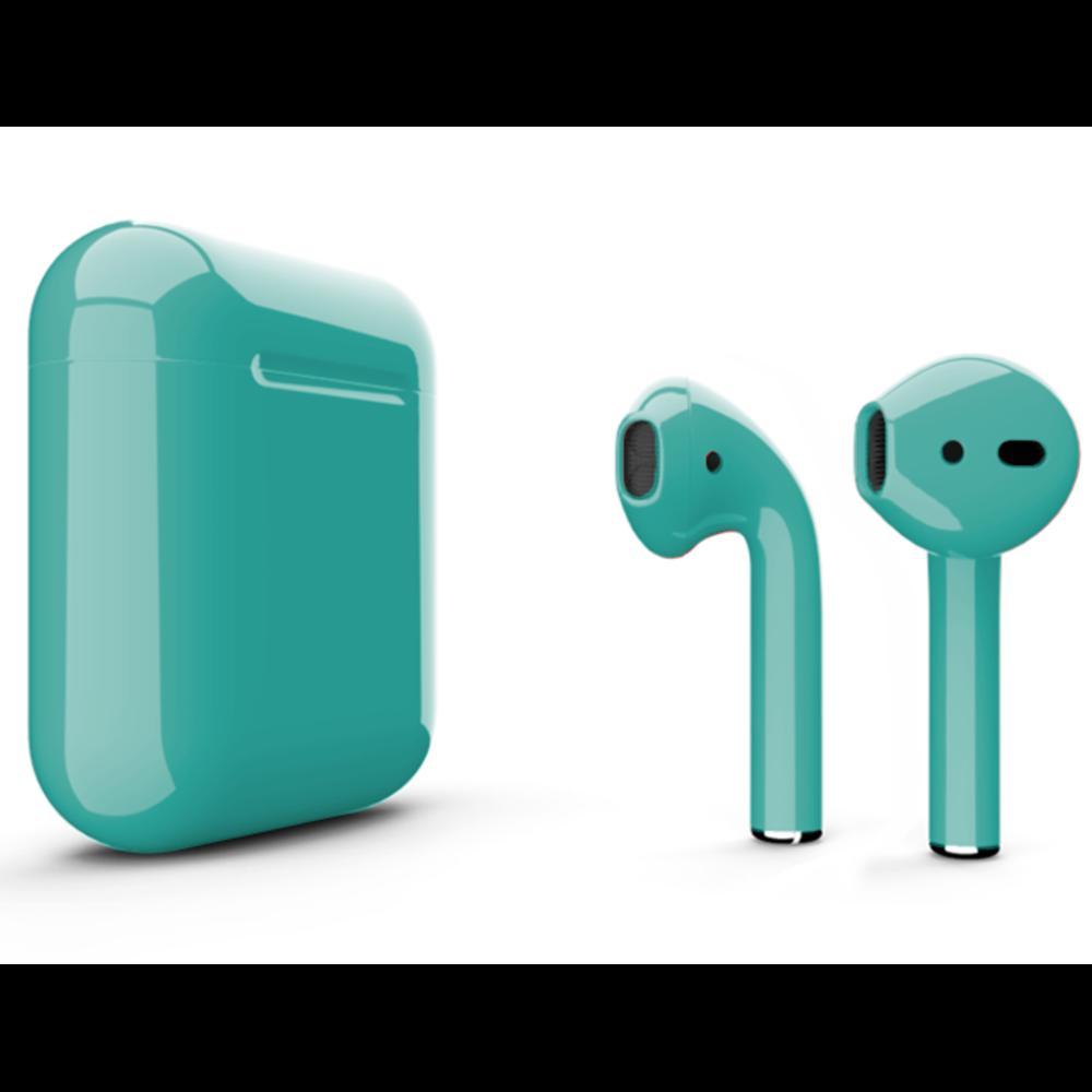 Беспроводные наушники Apple AirPods 2 Color (без беспроводной зарядки чехла) Lazur Glossy