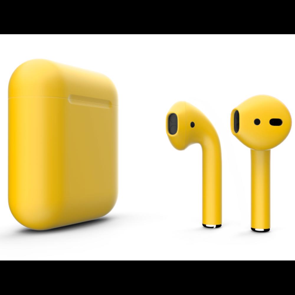 Беспроводные наушники Apple AirPods 2 Color (без беспроводной зарядки чехла) Yellow Matte