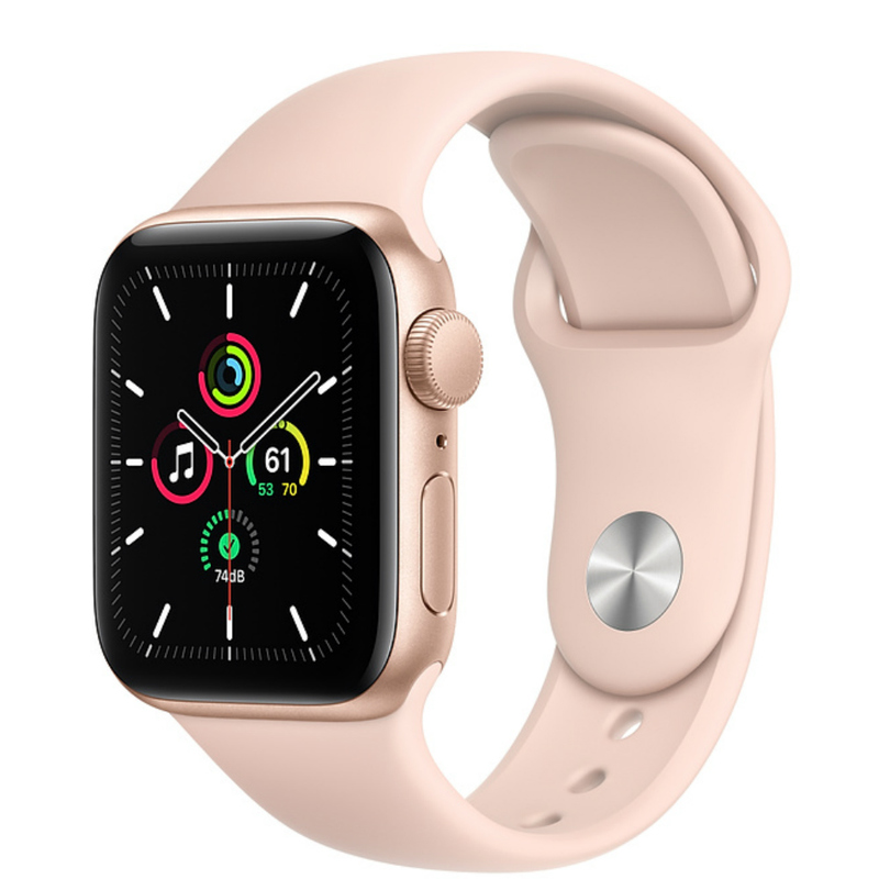 Apple Watch SE GPS 44mm Aluminum Case with Sport Band Золотистый/розовый песок