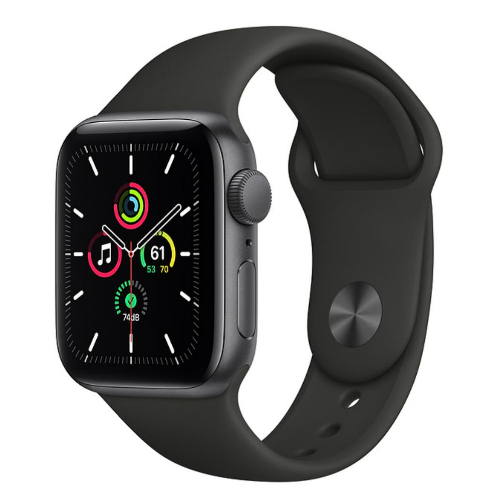 Apple Watch SE GPS 44mm Aluminum Case with Sport Band Серый космос/черный