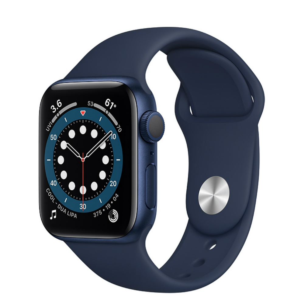 Apple Watch Series 6 GPS 40mm Aluminum Case with Sport Band Синий/темный ультрамарин
