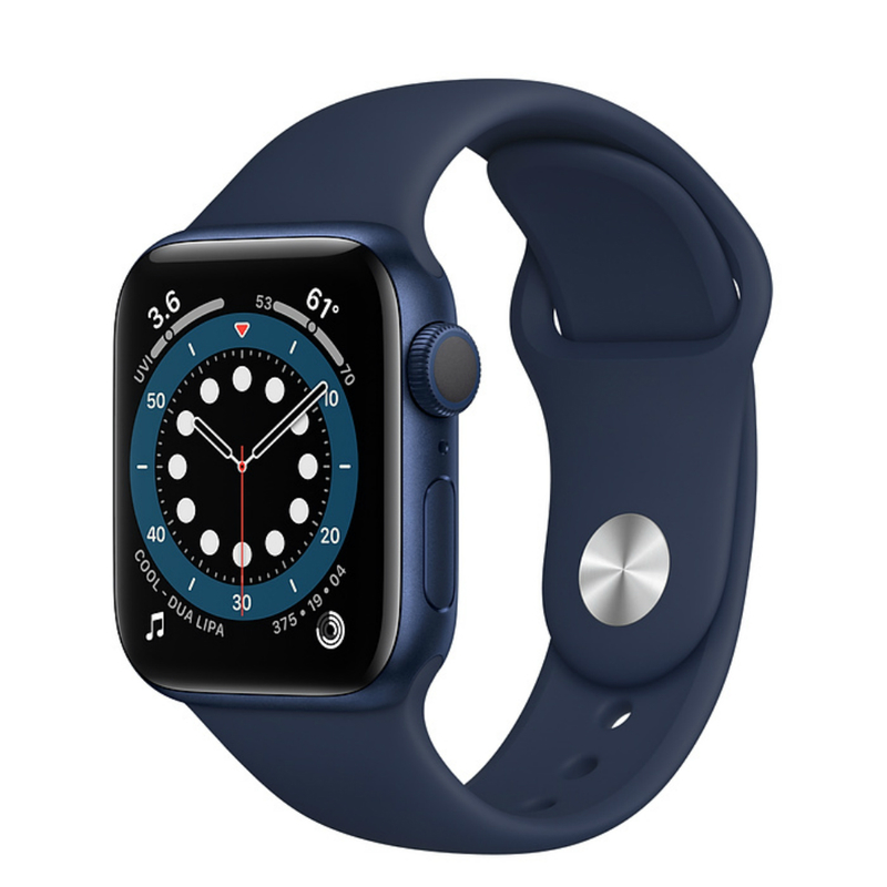 Apple Watch Series 6 GPS 44mm Aluminum Case with Sport Band Синий/темный ультрамарин