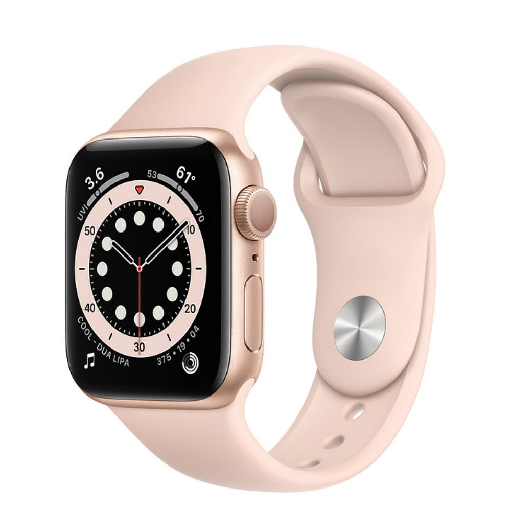 Apple Watch Series 6 GPS 44mm Aluminum Case with Sport Band Золотистый/розовый песок