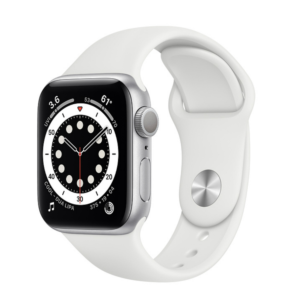 Apple Watch Series 6 GPS 40mm Aluminum Case with Sport Band Серебристый/белый