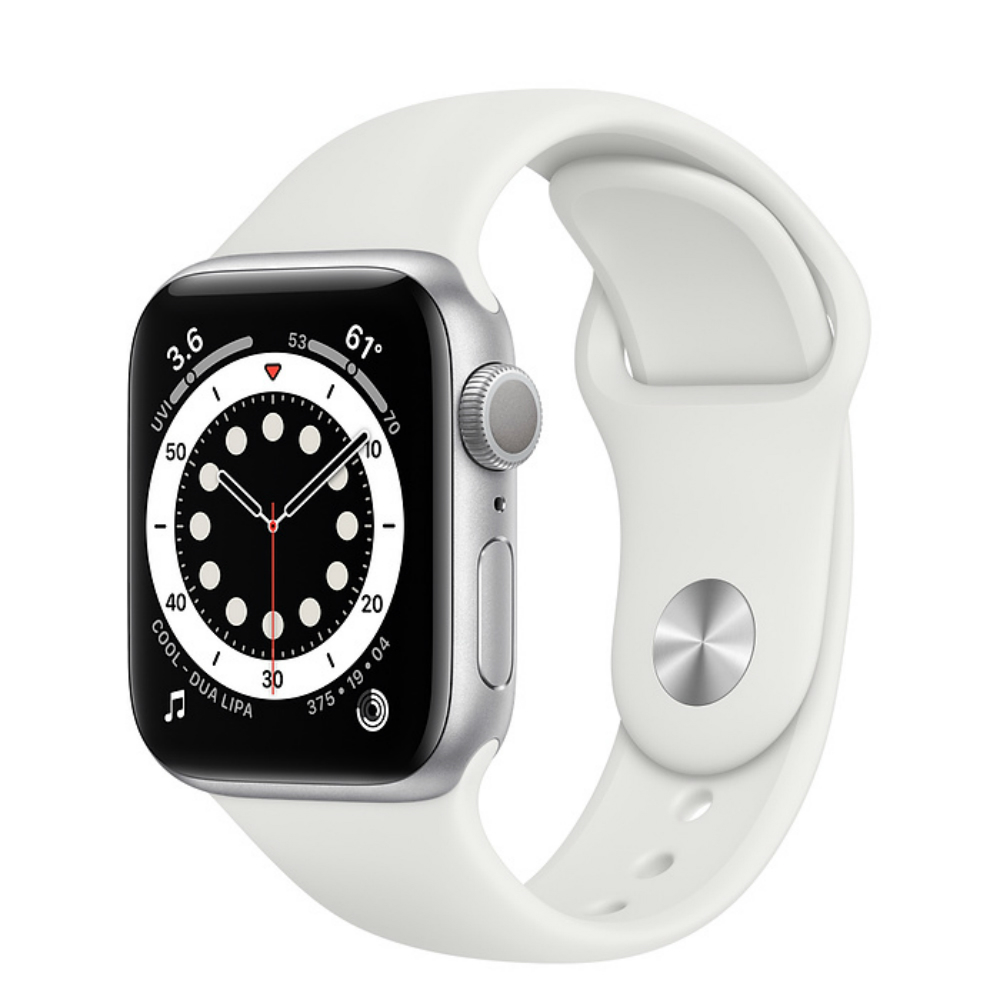 Apple Watch Series 6 GPS 44mm Aluminum Case with Sport Band Серебристый/белый