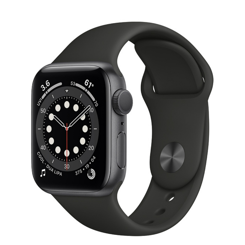 Apple Watch Series 6 GPS 44mm Aluminum Case with Sport Band Серый космос/черный