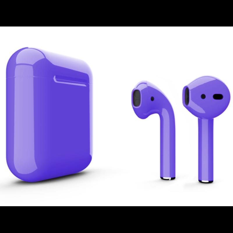 Беспроводные наушники Apple AirPods 2 Color (без беспроводной зарядки чехла) Purple Glossy