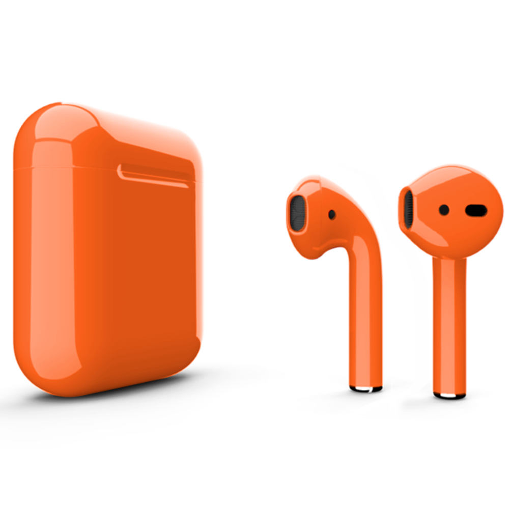 Беспроводные наушники Apple AirPods 2 Color (без беспроводной зарядки чехла) Orange Glossy