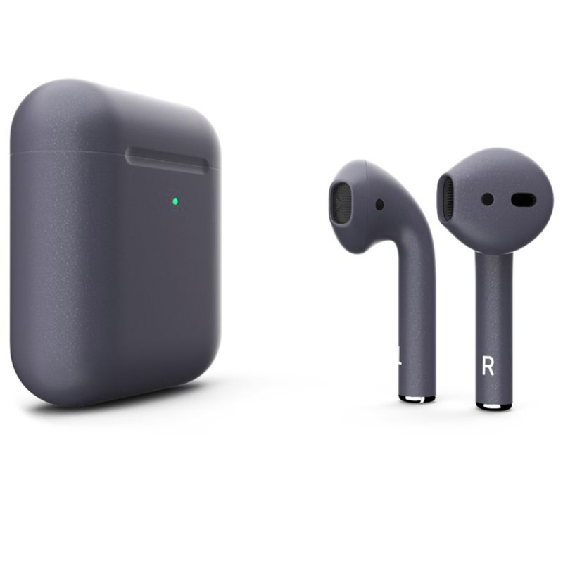 Беспроводные наушники Apple AirPods 2 Color (беспроводная зарядка чехла) Gray Space