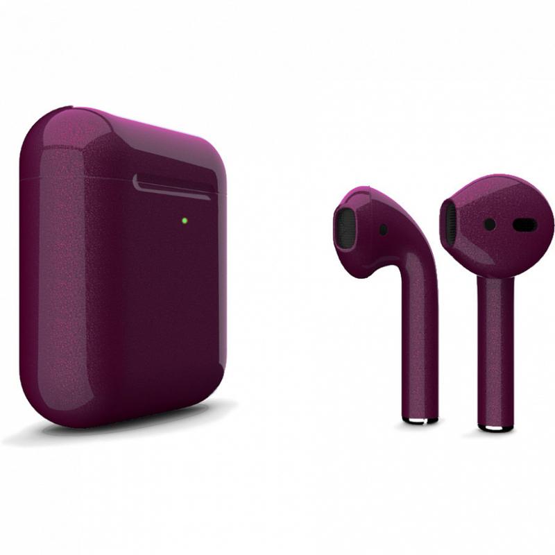 Беспроводные наушники Apple AirPods 2 Color (беспроводная зарядка чехла) Purple Glossy