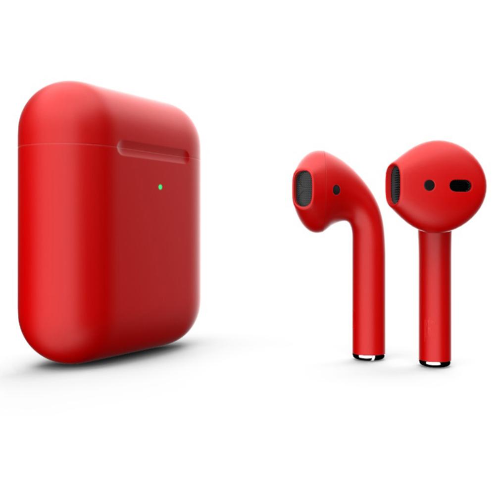 Беспроводные наушники Apple AirPods 2 Color (беспроводная зарядка чехла) Red Matte