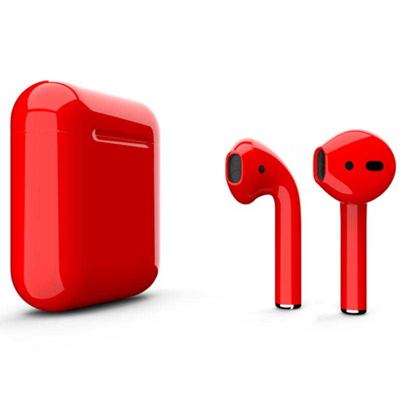 Беспроводные наушники Apple AirPods 2 Color (беспроводная зарядка чехла)Red